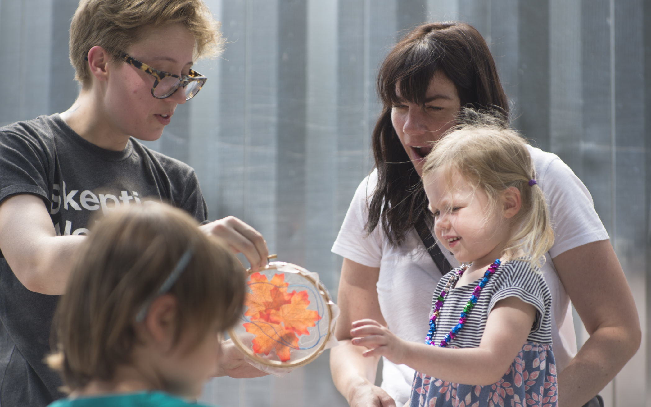 Family Day at CAMH-Making Light Catchers, 2017. Photo by Ronald Jones.