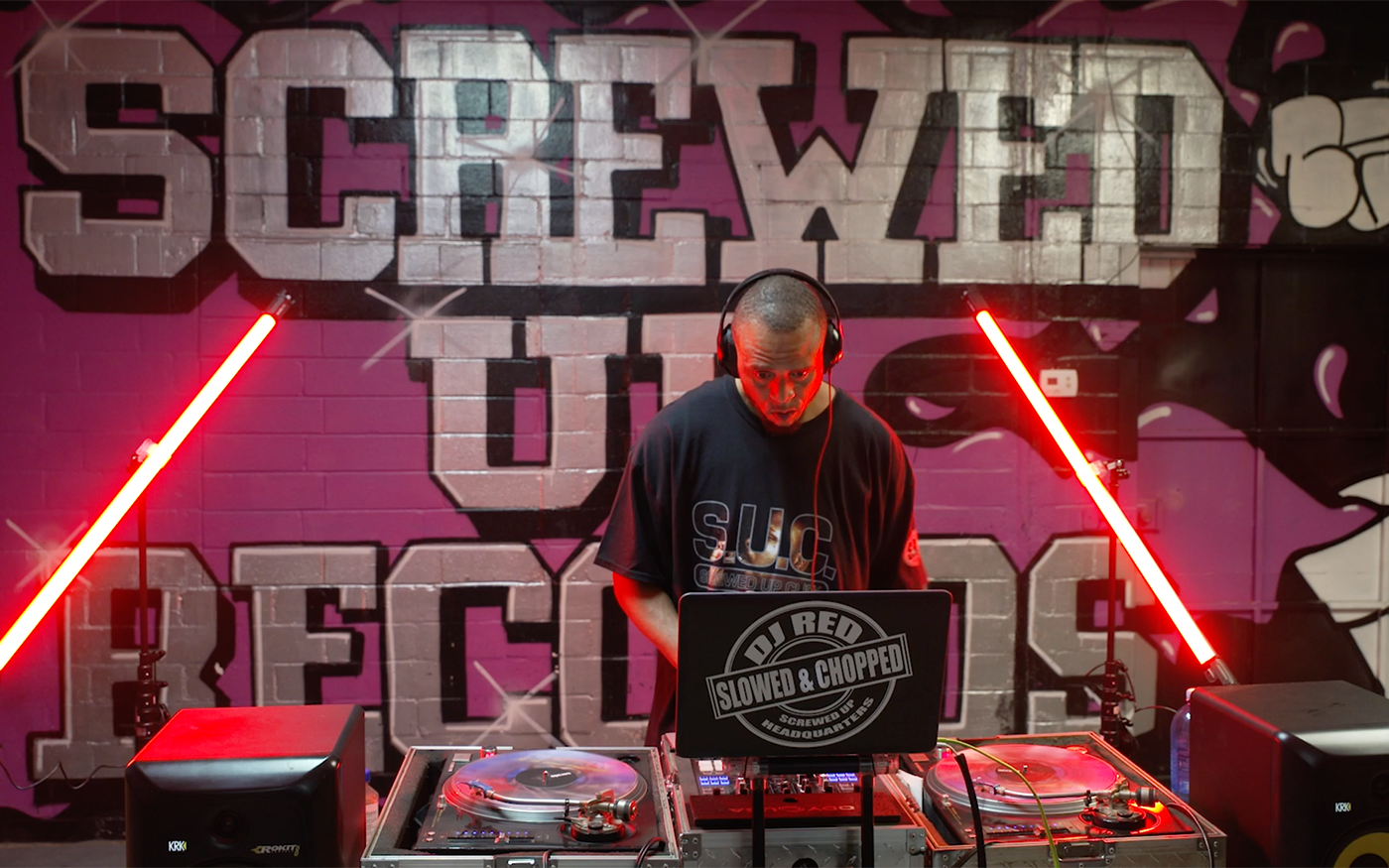 "Performance | DJ Red ""Chopped and Screwed"" DJ Set from Screwed Up Records"