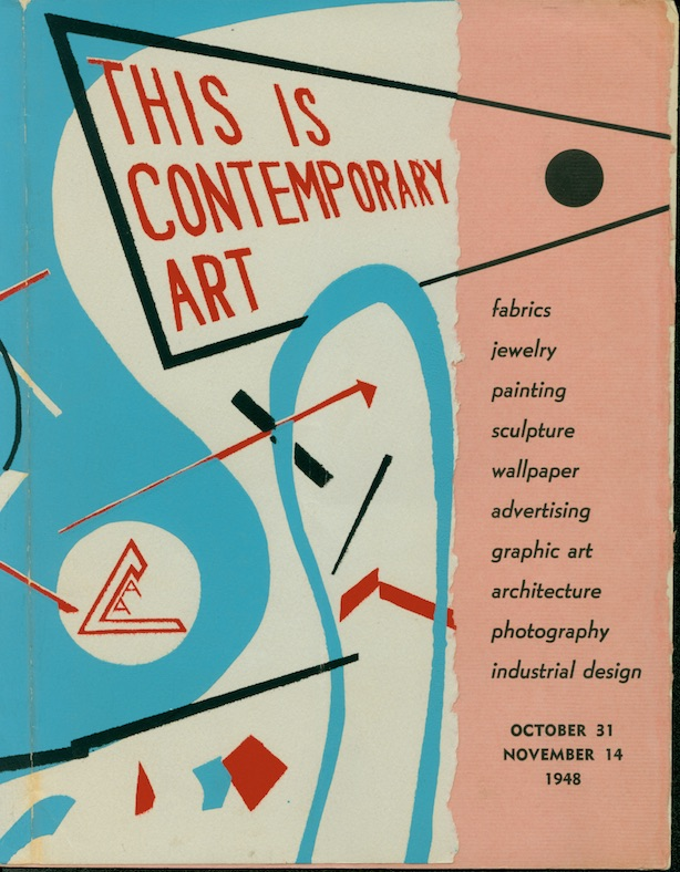 History | This Is Contemporary Art, 1948, Exhibition and catalogue designed by Frank Dolejska