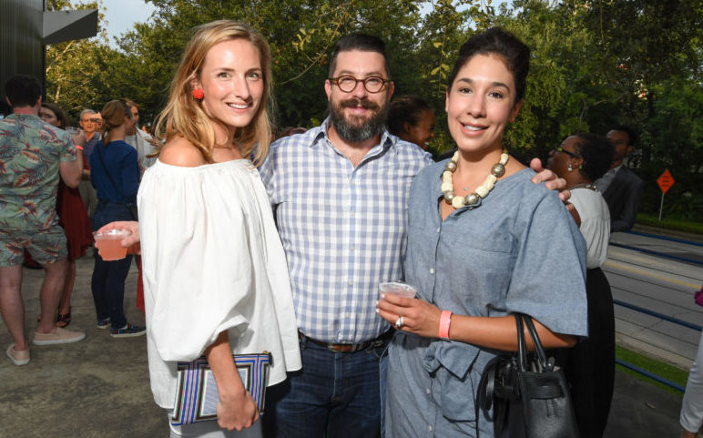 Memberships | Susie Bowen, Peter Pettigrew, and Calia Alvarado Pettigrew at the 2016 Young Patrons Season Kick-Off at the Contemporary Arts Museum Houston. Photo by Daniel Ortiz.