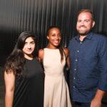 Sana Sahi, Alecia Harris, and Jonathan Beitler at the 2016 Young Patrons Season Kick-Off at the Contemporary Arts Museum Houston. Photo by Daniel Ortiz.