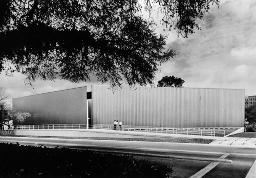 About | Exterior View of the Contemporary Arts Museum Houston, 1972.