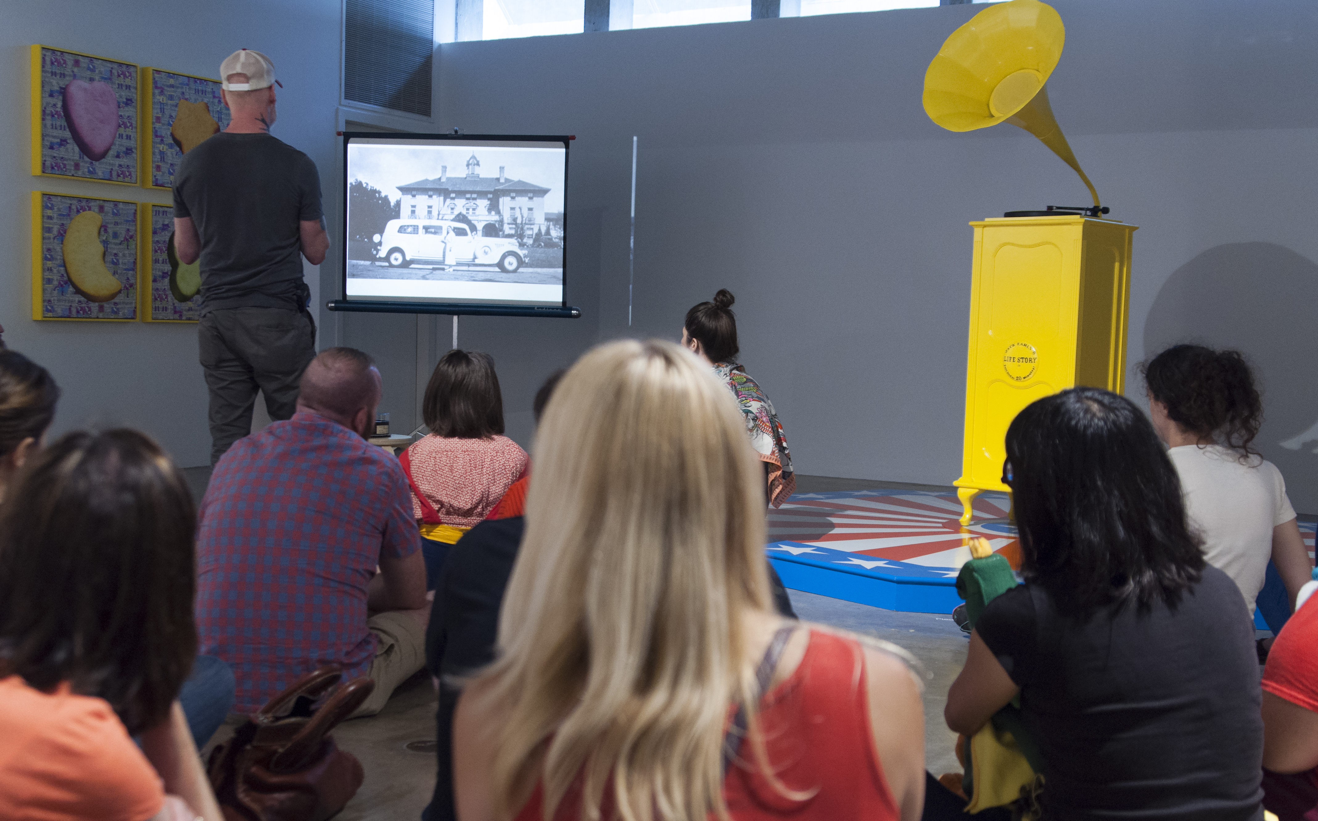 Jack Early Presentation For A Better Yesterday Exhibition At CAMH, 2017. Photo By Ronald L. Jones.