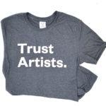 Trust Artist t-shirt (front)